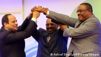 Äthiopien Grand Renaissance Staudamm al-Sisi al-Bashir Desalegn