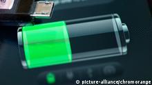 Akku-Ladeanzeige auf einem Smartphone