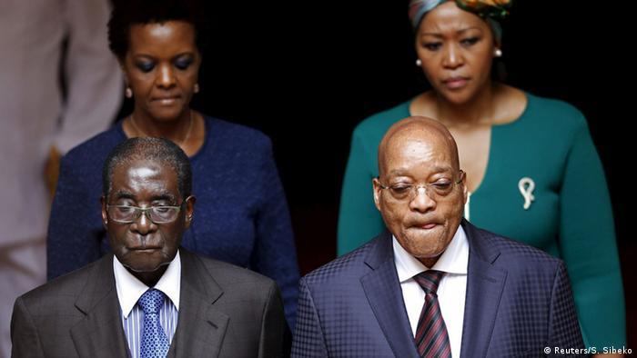 Robert Mugabe in Südafrika