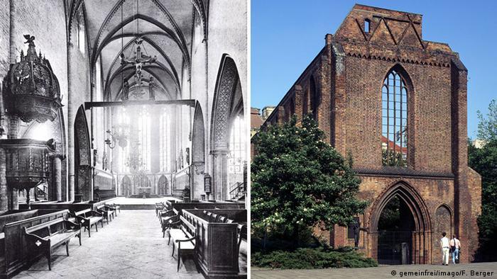 Bildergalerie Ruinen des Zweiten Weltkrieges - Franziskaner-Klosterkirche Berlin