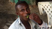 Bildergalerie über die Alltagsdroge Khat in Somaliland Bild 9: Khat-Konsument Ort: Hargeisa, Somaliland Copyright James Jeffrey/DW
