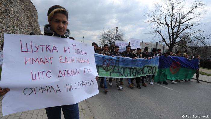 Mazedonische Roma protestieren gegen Diskriminierung (Petr Stojanovski)