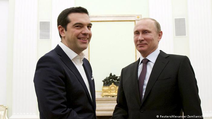 Ципрас и Путин на встрече в Москве