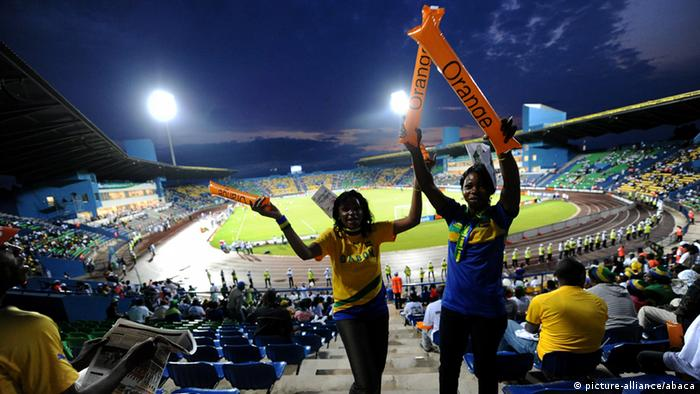 Stadium full of Gabon fans