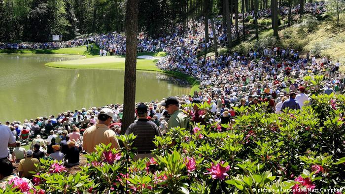 Spectators at Augusta National golf course