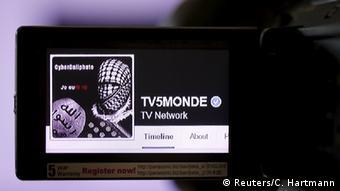 Взломанный хакерами аккаунт TV5 Monde