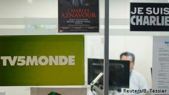 Frankreich Mitarbeiter von TV5 Monde in Paris