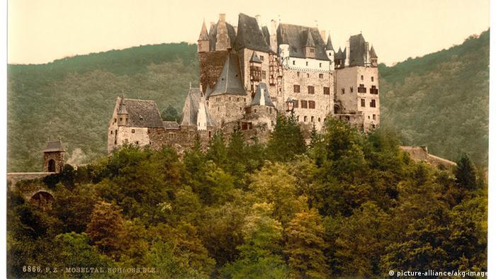 Замок Эльц на фотографии около 1890 года
