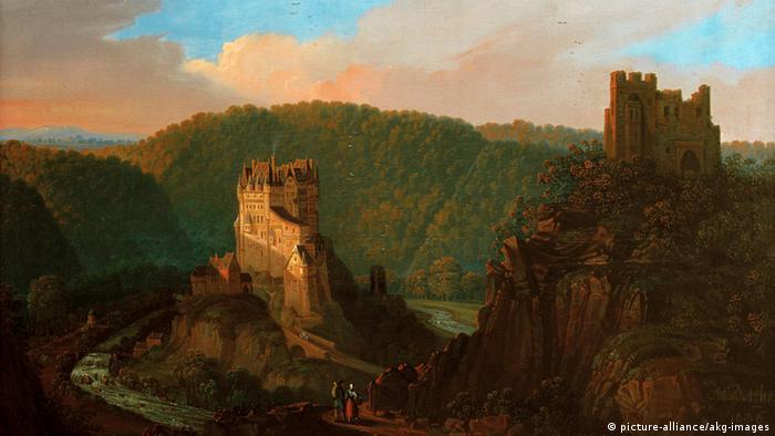 Замок Эльц на картине 1836 года