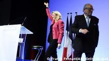 Frankreich Jean-Marie und Marine Le Pen