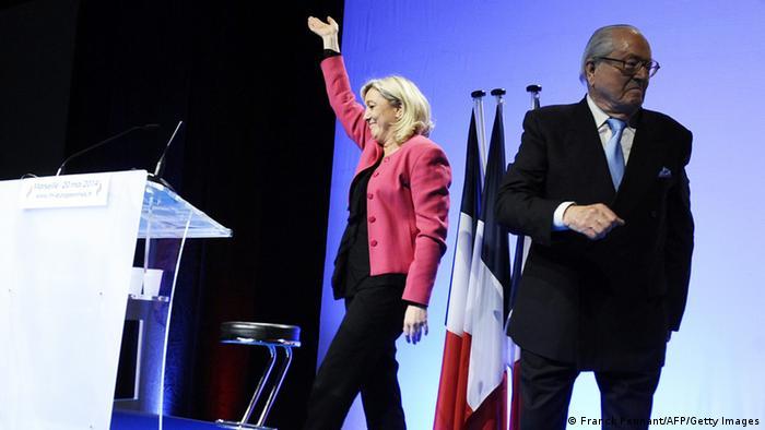 Марин и Жан-Мари Ле Пен