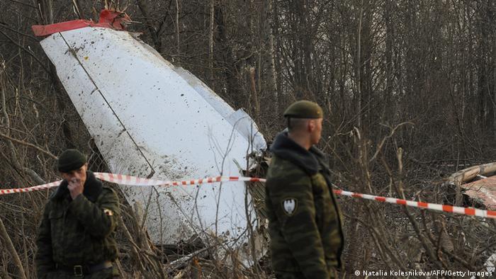 Обломки Ту-154, разбившегося в 2010 году под Смоленском