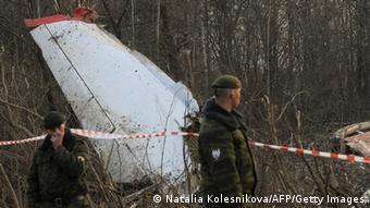 Обломки самолета Ту-154, упавшего под Смоленском 10 арпеля 2010 года