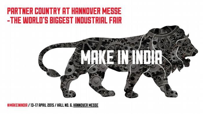 Logo Indien Partnerland der Hannover-Messe 2015