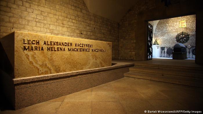 Могила загиблого подружжя Леха Качинського та його дружини Марії у Вавельському соборі в Кракові