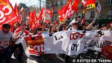 Frankreich, Streik gegen Sparpläne
