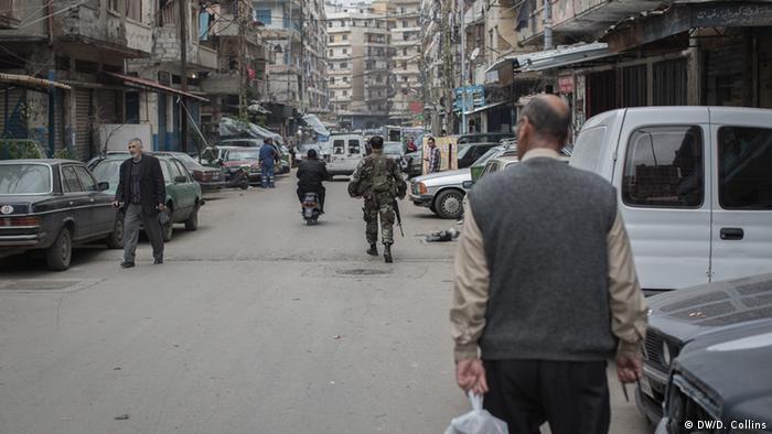 A street in the neighborhood of Bab al-Tabbaneh in Tripoli