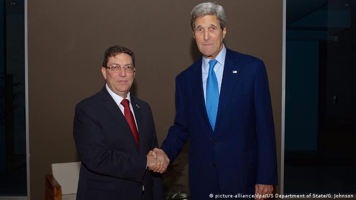 USA Kuba Annäherung Kerry und Rodriguez