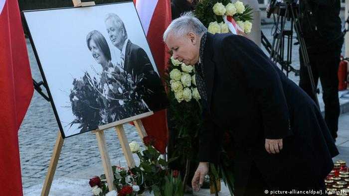 Polish President Lech Kaczynski killed (picture-alliance/dpa/J. Kaminski)