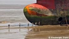 Bildergalerie Verschrottung von alten Schiffen in Indien Gujarat