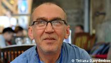 Bilderbeschreibung: Ukrainischer Schriftsteller Olexandr Irvanets Tags: Ukraine, Literatur, Olexandr Irvanets, Irvanez, Irwanez (c) Tetiana Davydenkon (von der ukrainischen Redaktion beauftragte Fotografin)