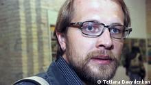 Bilderbeschreibung: Ukrainischer Dichter, Kolumnist und Übersetzer Andrij Bondar. Tags: Ukraine, Literatur, Andrij Bondar (c) Tetiana Davydenkon (von der ukrainischen Redaktion beauftragte Fotografin)