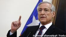 El ministro de Relaciones Exteriores de Chile, Heraldo Muñoz