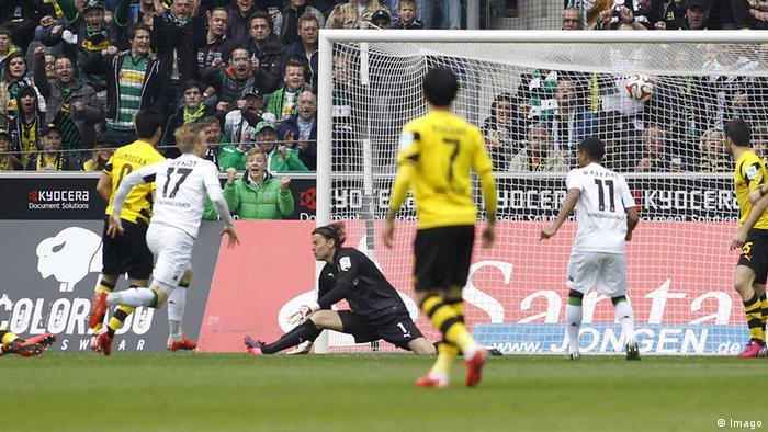 Fussball Bundesliga Mönchengladbach gegen Borussia Dortmund