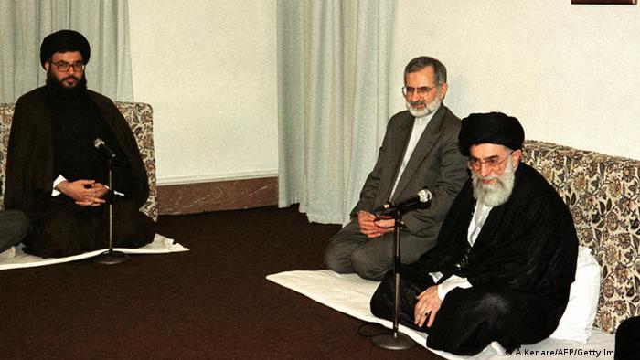 Ayatollah Ali Khamenei mit Hassan Nasrallah in Teheran