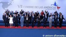 Amerika-Gipfel Familienfoto