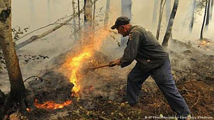 Russland Sibirien Waldbrände