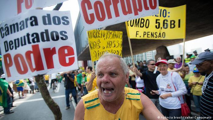 Brasilien Brasilia, Proteste Anti Dilma Rousseff