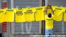 Brasilien São Paulo, Proteste Anti Dilma Rousseff