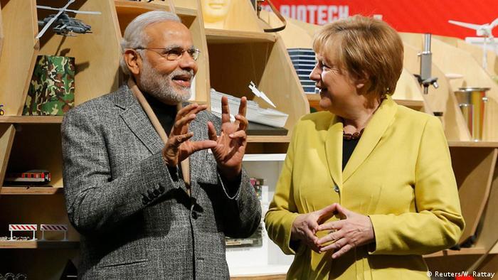 Deutschland Narendra Modi und Angela Merkel auf der Hannover Messe