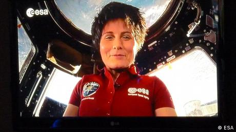 ESA astronaut Samantha Cristoforetti sends a special message to Earth from the International Space Station