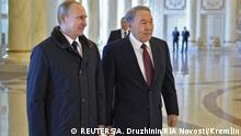 Wladimir Putin und Nursultan Nasarbajew