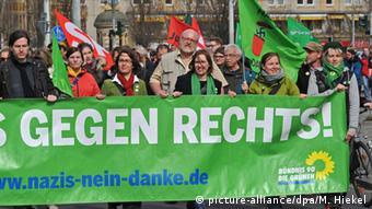 Dresden Anti Pegida Demonstration Die Grünen