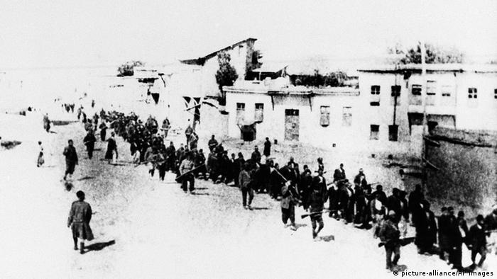 Hundreds of thousands of Armenians were sent on death marches from Anatolia to the deserts of Syria.