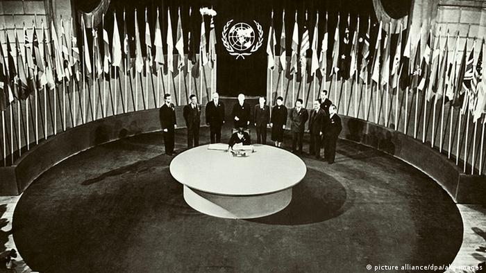Adoption of the UN Charter in 1945