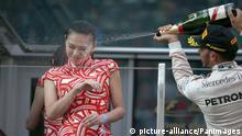 Lewis Hamilton (GB), Mercedes F1 Team. Shanghai International Circuit podium.