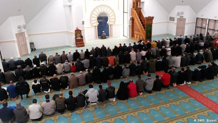 Prayers at a Lyon mosque