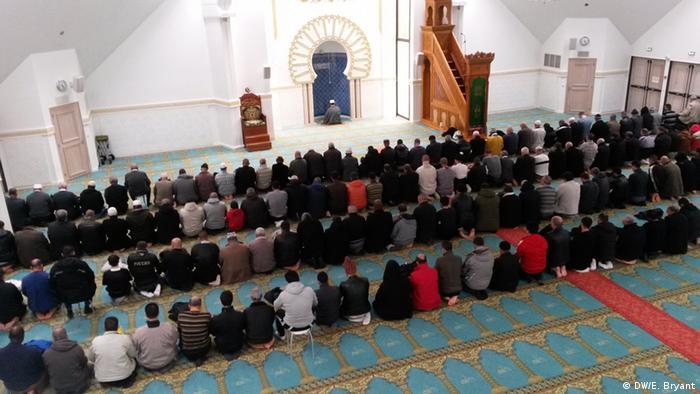 Prayers at a Lyon mosque