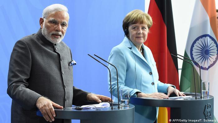 Deutschland Indien Angela Merkel und Narendra Modi in Berlin