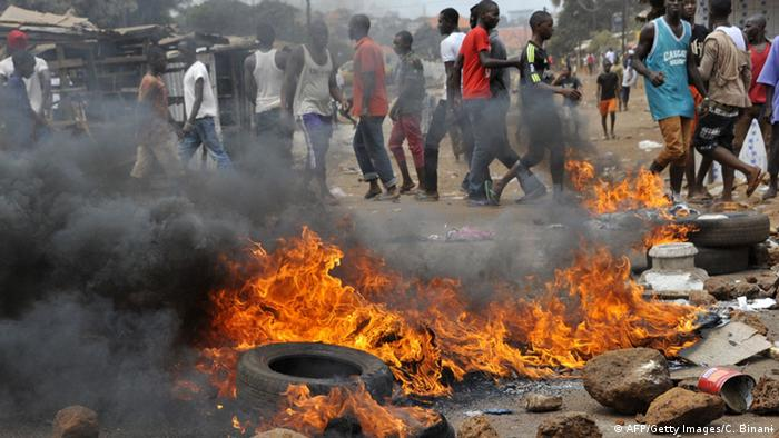 Proteste in Conakry, Guinea Foto: CELLOU BINANI/AFP/Getty Images