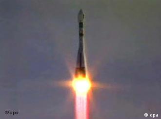 Старт ракеты Союз с космодрома Байконура