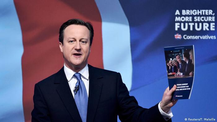 Britischer Premier Cameron stellt Wahlprogramm vor