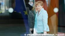 Deutschland Angela Merkel vor Empfang von Narendra Modi