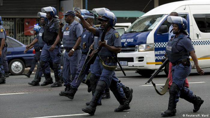 Police in the streets of Durban