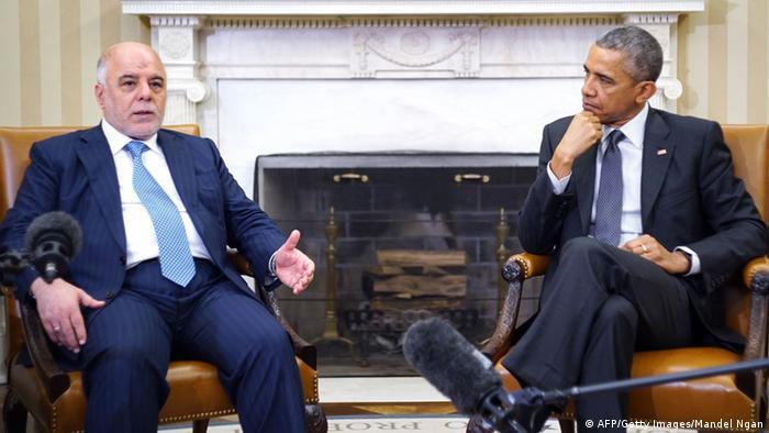 US-Präsident Barack Obama und der irakische Ministerpräsident Haider Al-Abadi bei einem Treffen Mitte April im Weißen Haus (Foto: AFP/Getty Images/Mandel Ngan)