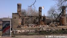 Ruinen in Illovajsk bei Donezk. Foto: Inna Kuprijanova